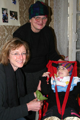 Lila Tocci with disabled child