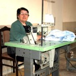 Sewing Cooperative - they are making sheets for local Kindergartens