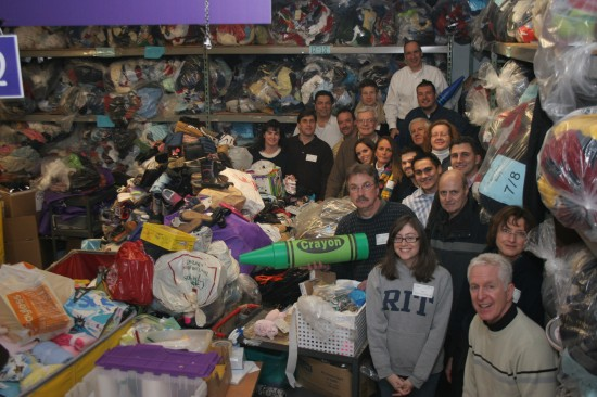 Tocci volunteers at Cradles to Crayons