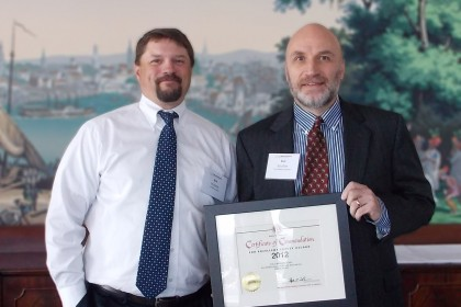 Tocci Wins 2012 Safety Award