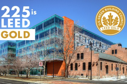 225 Binney Achieves LEED Gold