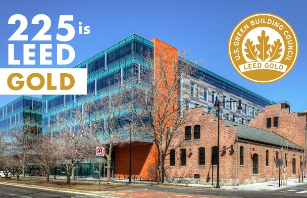 225 Binney Street is LEED GOLD!