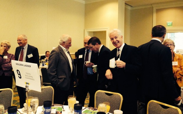 John Tocci enjoying his morning cup of coffee at the American Dream Awards.