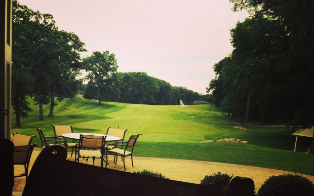 View of the golf course from the Clubhouse patio.