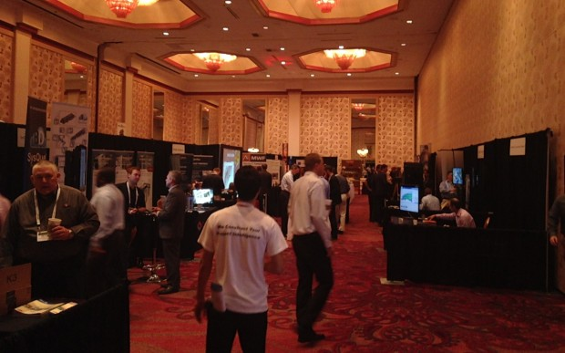 Some of the booths set up at the BIMForum.
