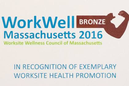 Tocci Named 2016 WWCMA WorkWell MA Bronze Level Winner for Exemplary Worksite Health Promotion