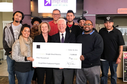 Tocci Building Companies Donates $15,000 to  Straight Ahead Ministries