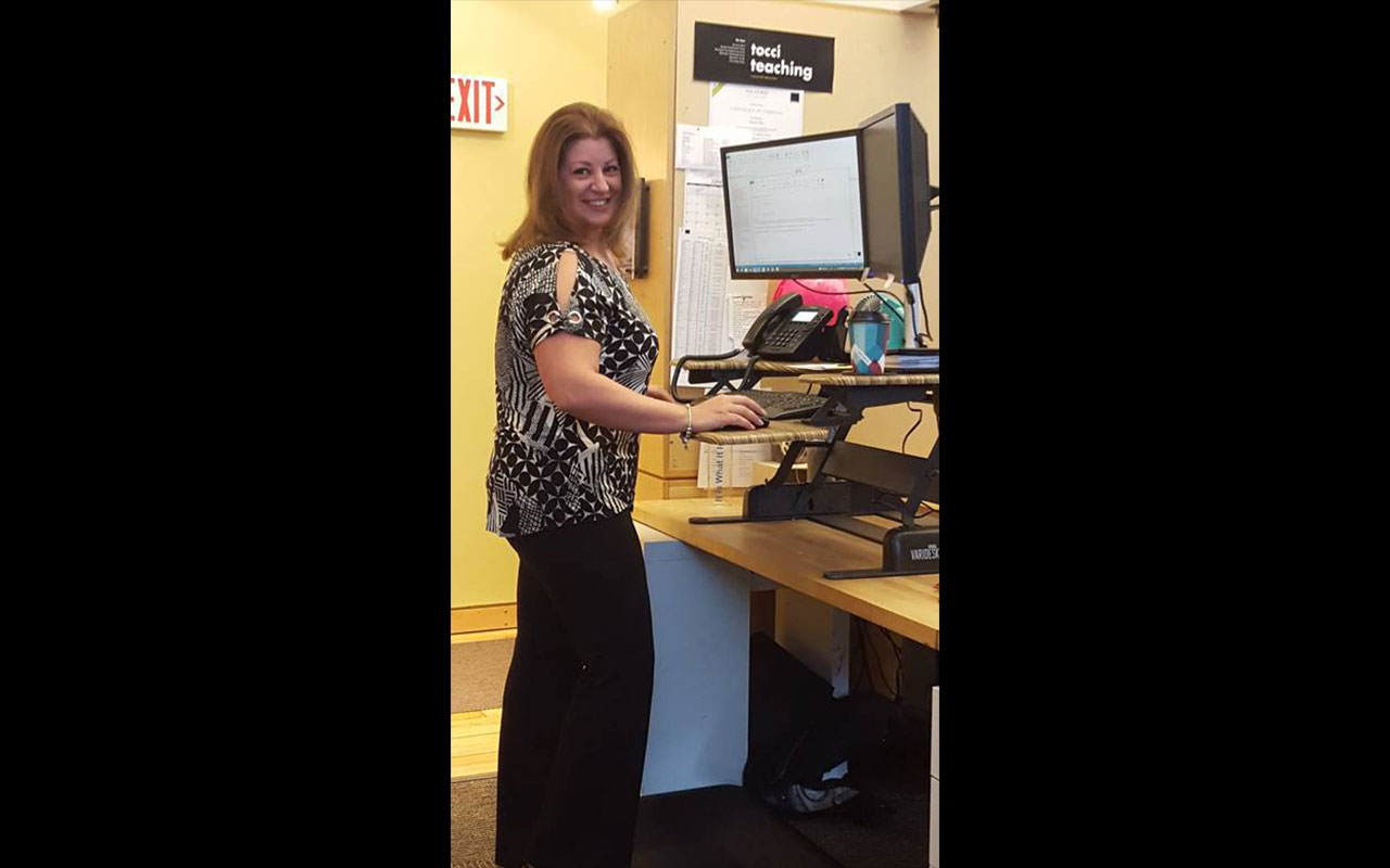 To Sit Or To Stand A Week With Stand Up Desks Tocci