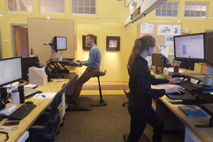 To Sit or to Stand? A Week with Stand-up Desks