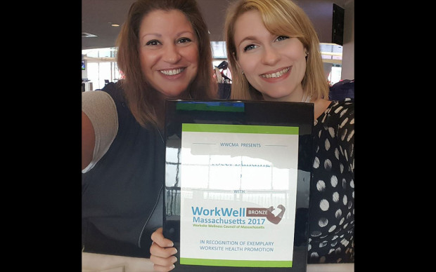 Tocci was also awarded the bronze Status Award from Worksite Wellness Council of Massachusetts.